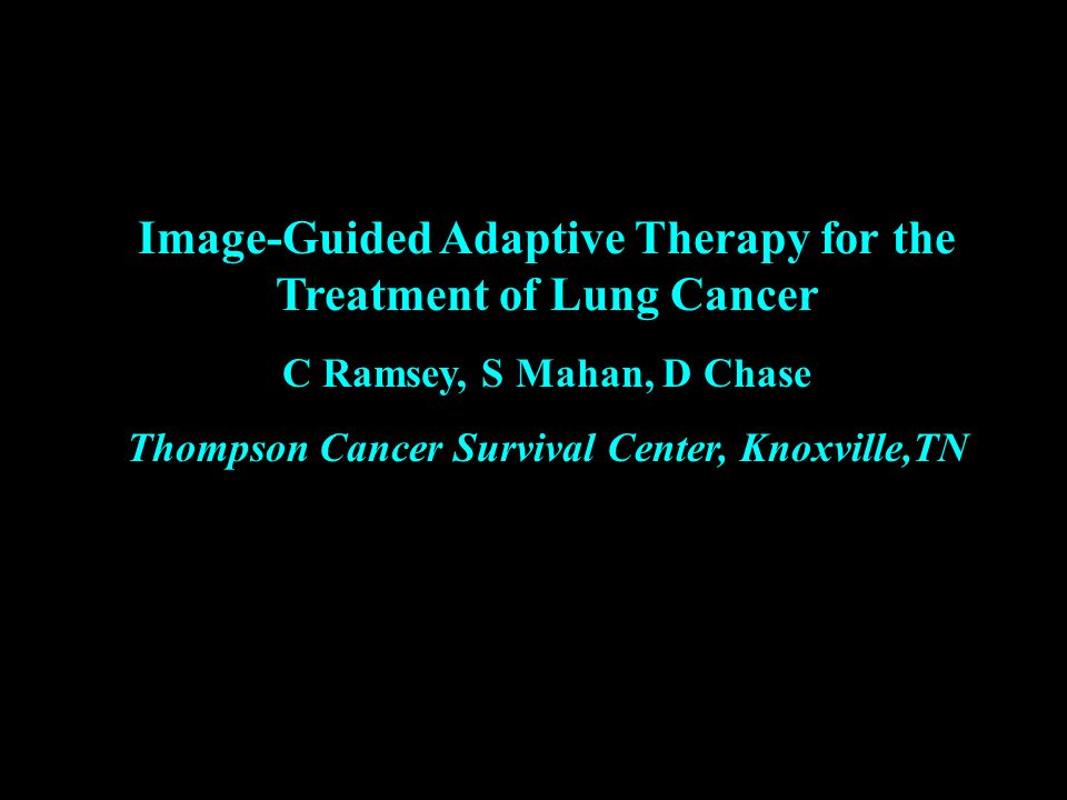 Image-Guided Adaptive Therapy for the Treatment of Lung Cancer