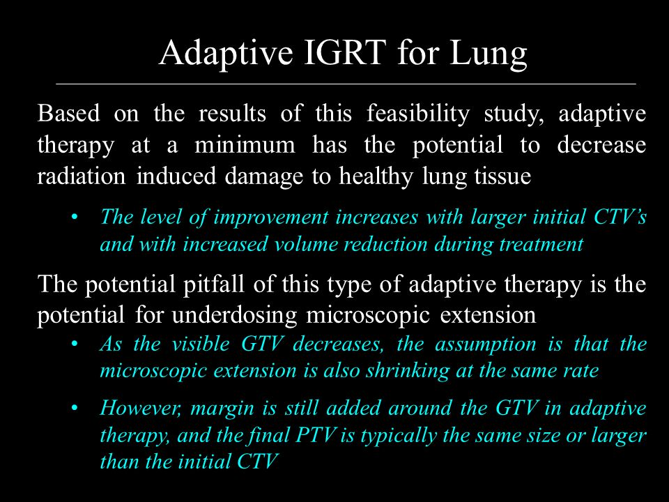 Adaptive IGRT for Lung