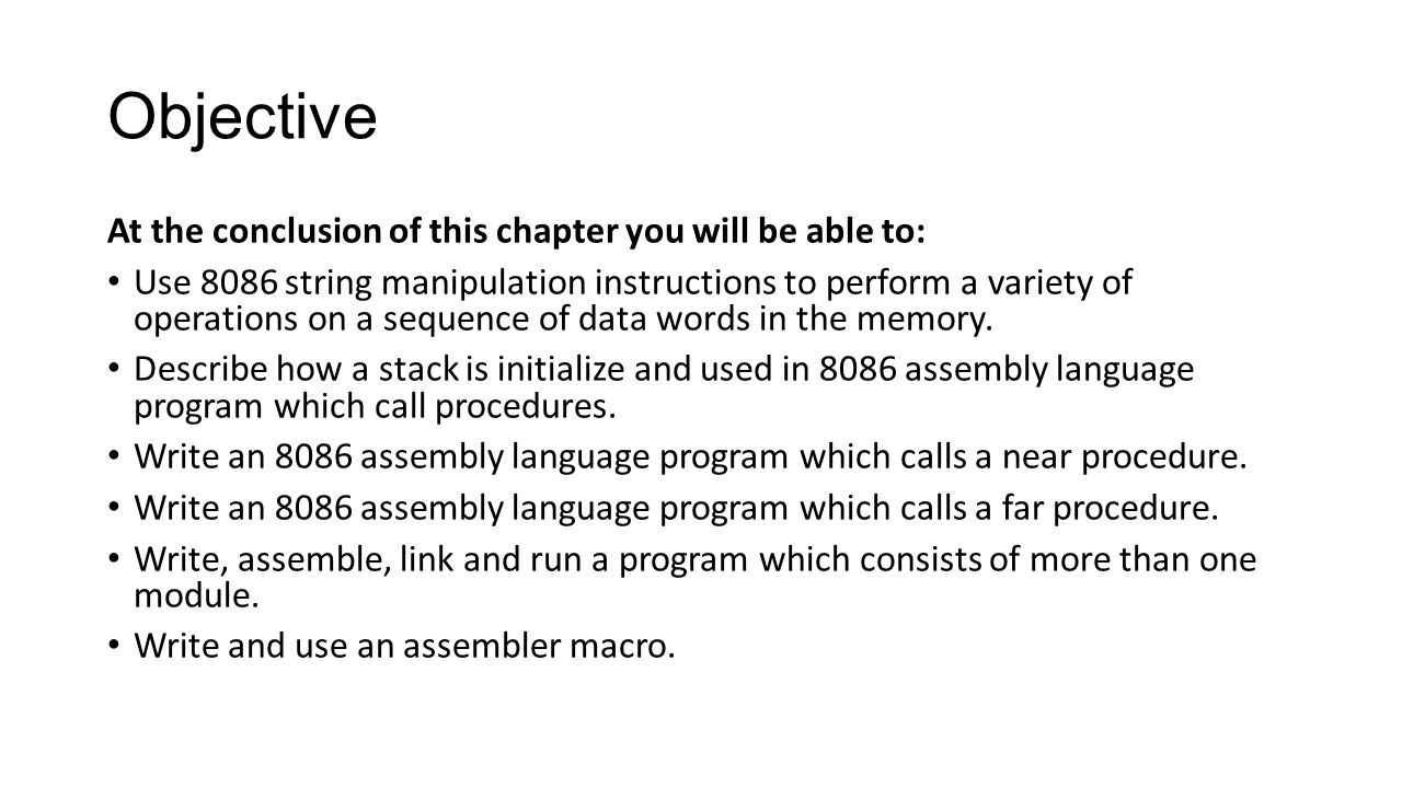 string procedure and macros in microprocessor On sic/xe requires a sequence of seven instructions to save the contents of  a  macro processor is not directly related to the hit t f th t hi h it i t.