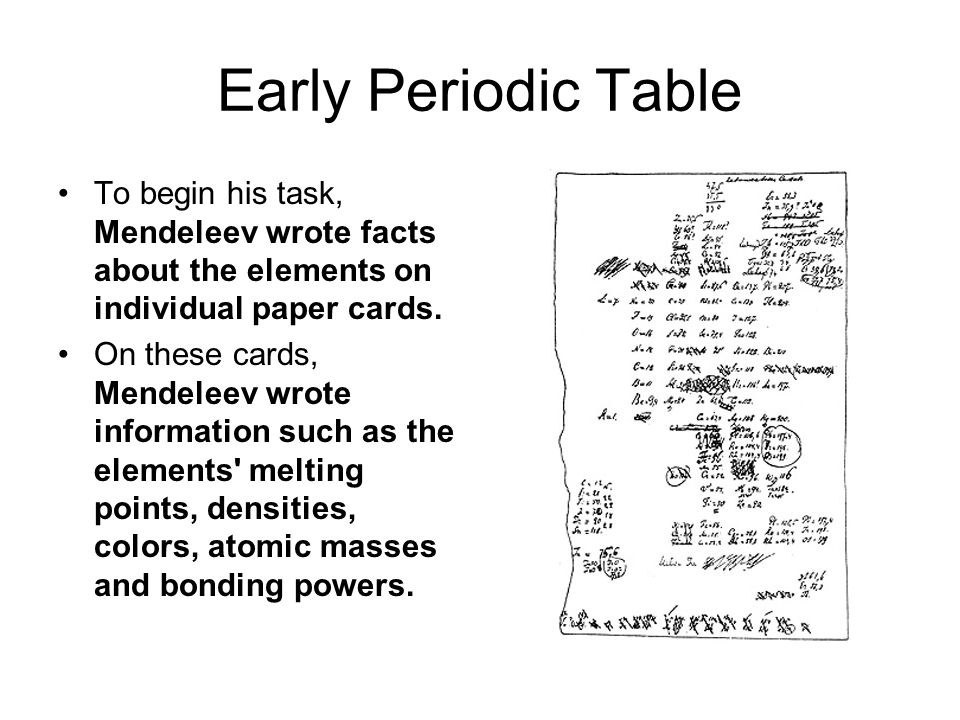 Periodic table mendeleev periodic table facts periodic table of dmitri mendeleev father of the periodic table ppt video online urtaz Gallery