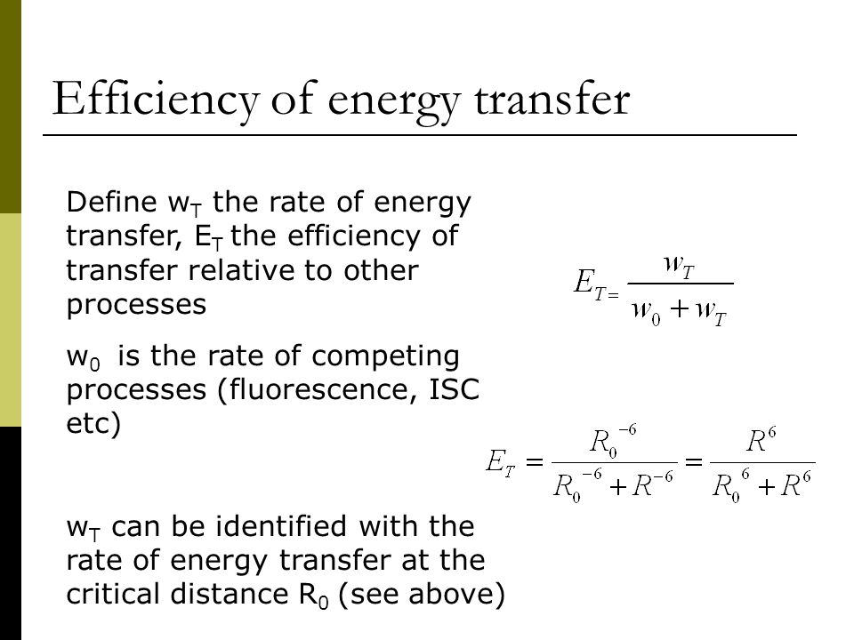 Lecture 5 Intermolecular electronic energy transfer - ppt ...