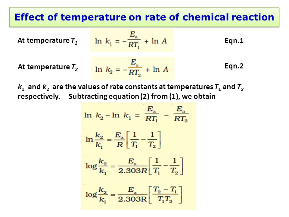 Changing Temperature -> Chemical Reaction