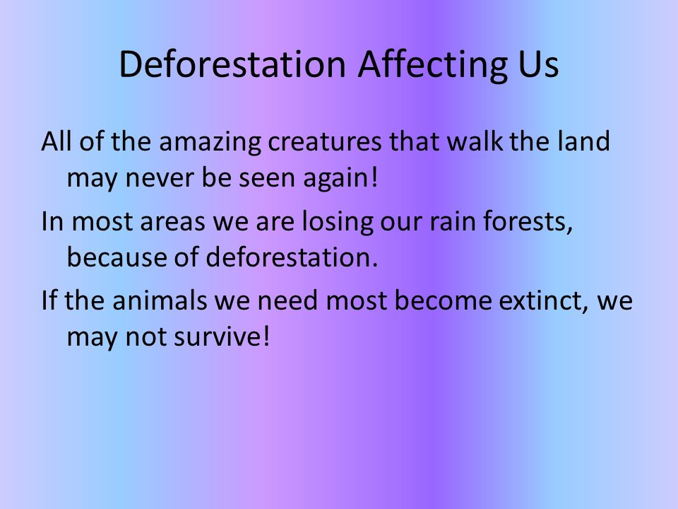 Is Deforestation A Problem? By Mikayla and Asha - ppt download