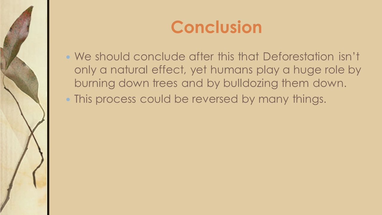 deforestation extinction of species conclusion Request article pdf | tropical deforestation and species extinction | citations: 160 | the book offers conservationists' perceptions of how fast tropical forests are being lost and the .