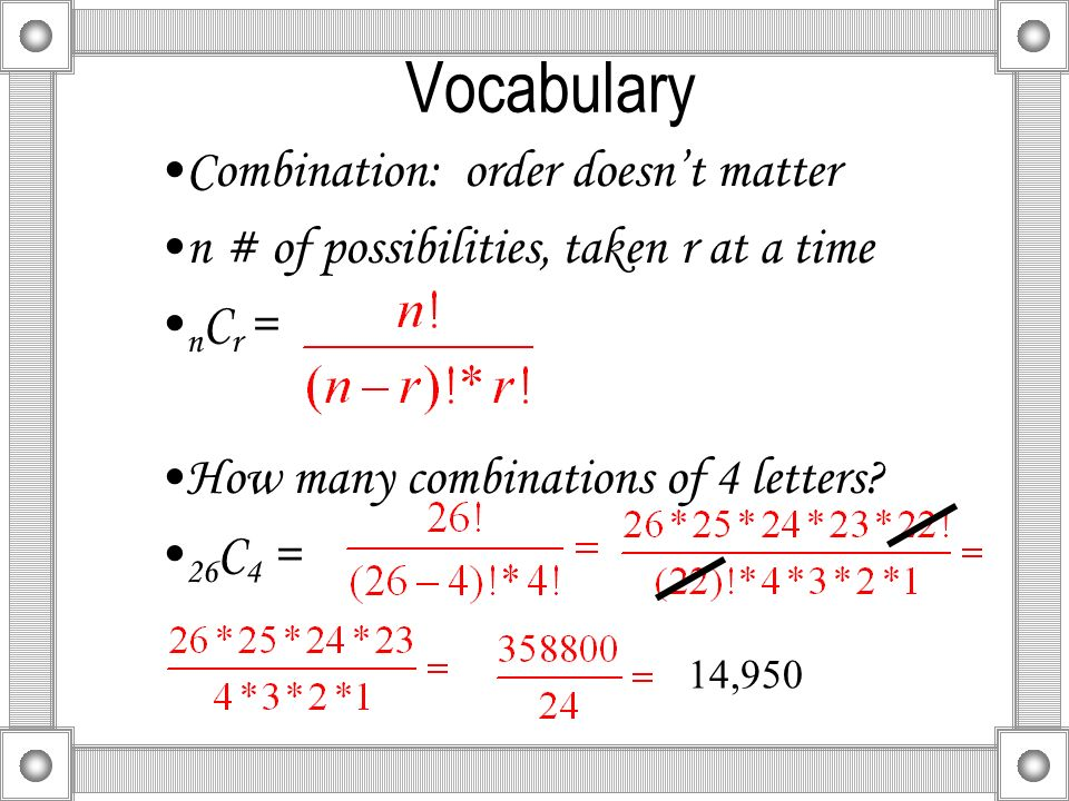 63Find Probabilities Using Combinations