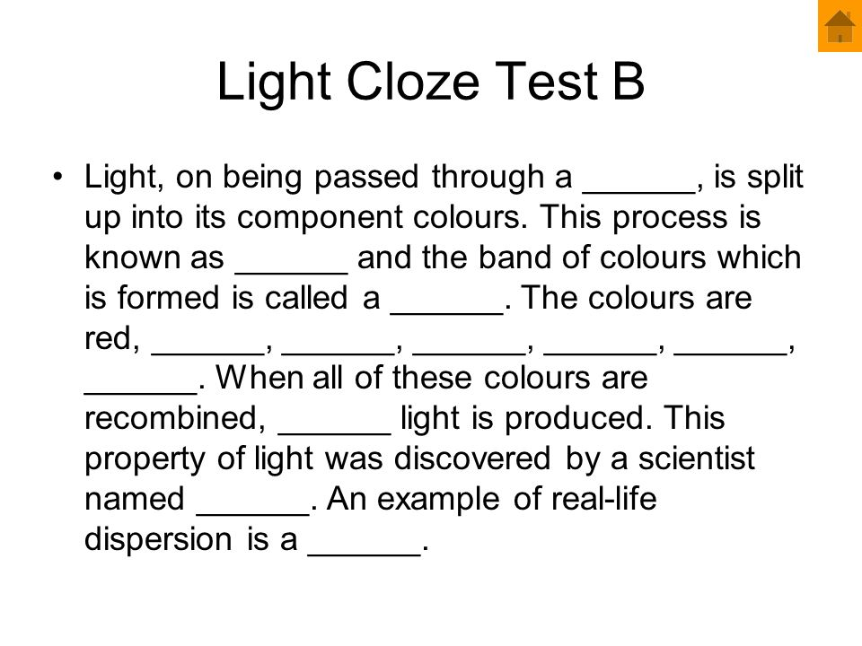 Light Cloze Test B