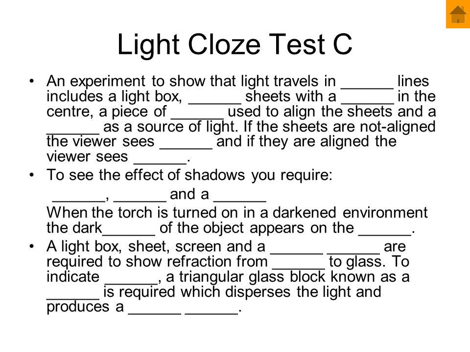 Light Cloze Test C