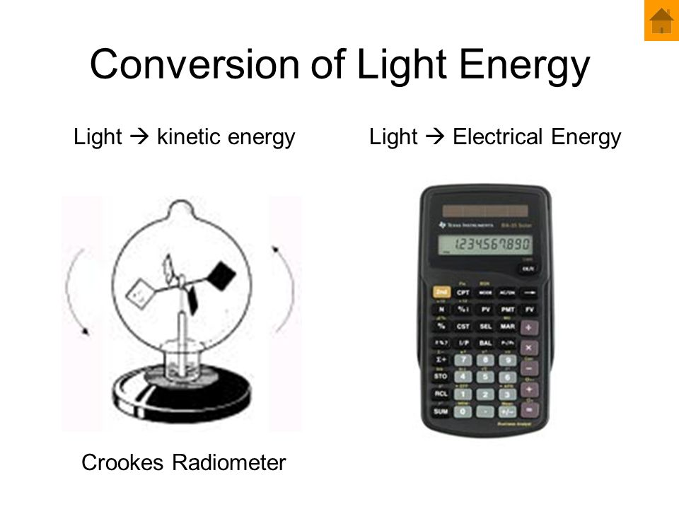 Conversion of Light Energy