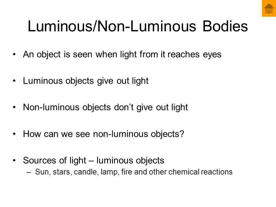 Luminous/Non-Luminous Bodies