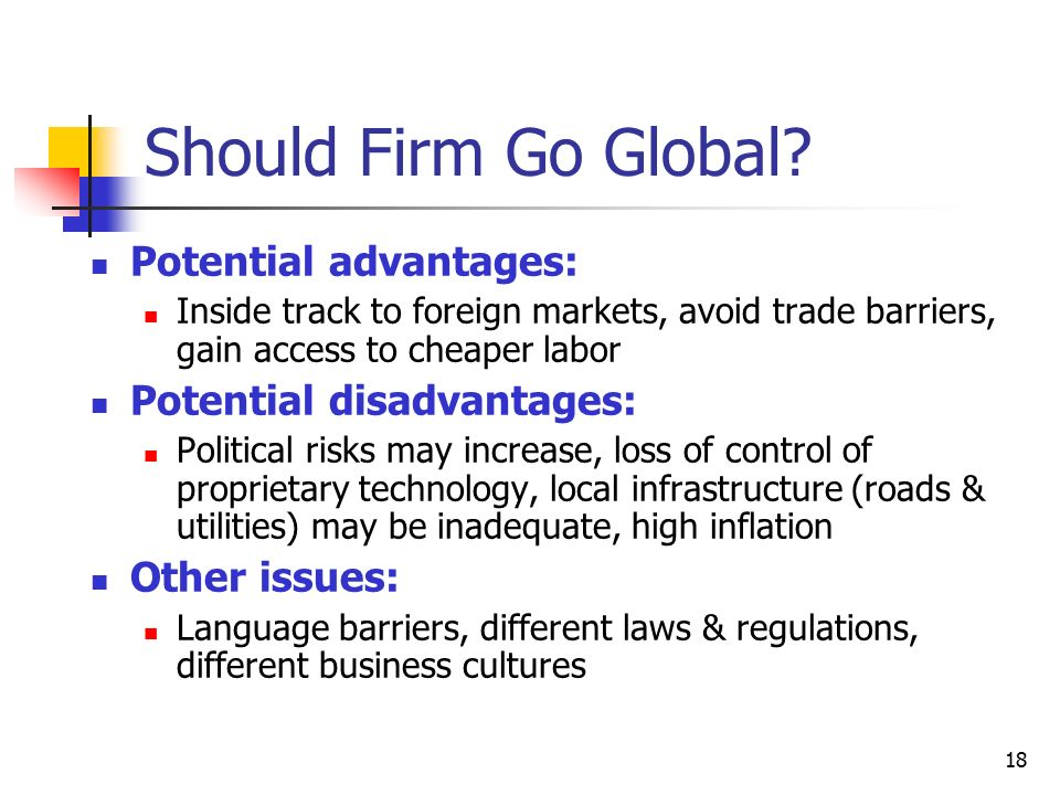 advantages and disadvantages of trade barriers pdf