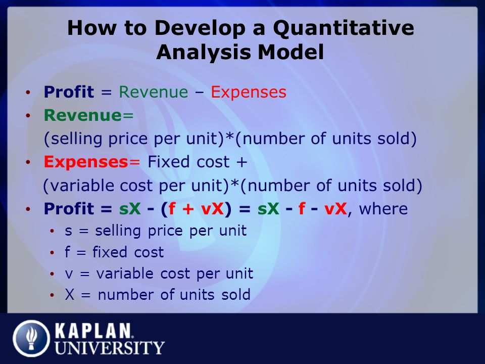 Mm305 Quantitative Analysis For Management Dr. Bob Lockwood - Ppt