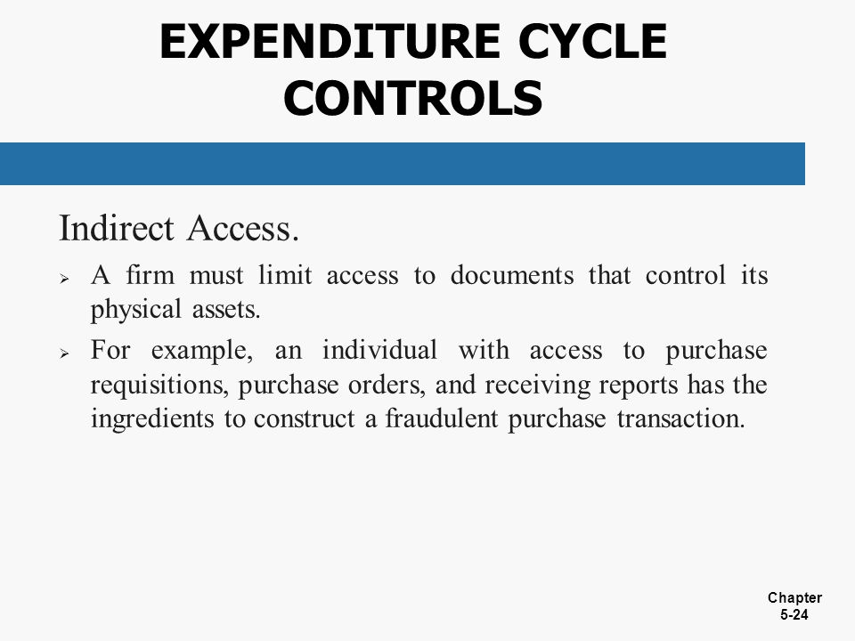 expenditure cycle controls - Expenditure Cycle Data Flow Diagram