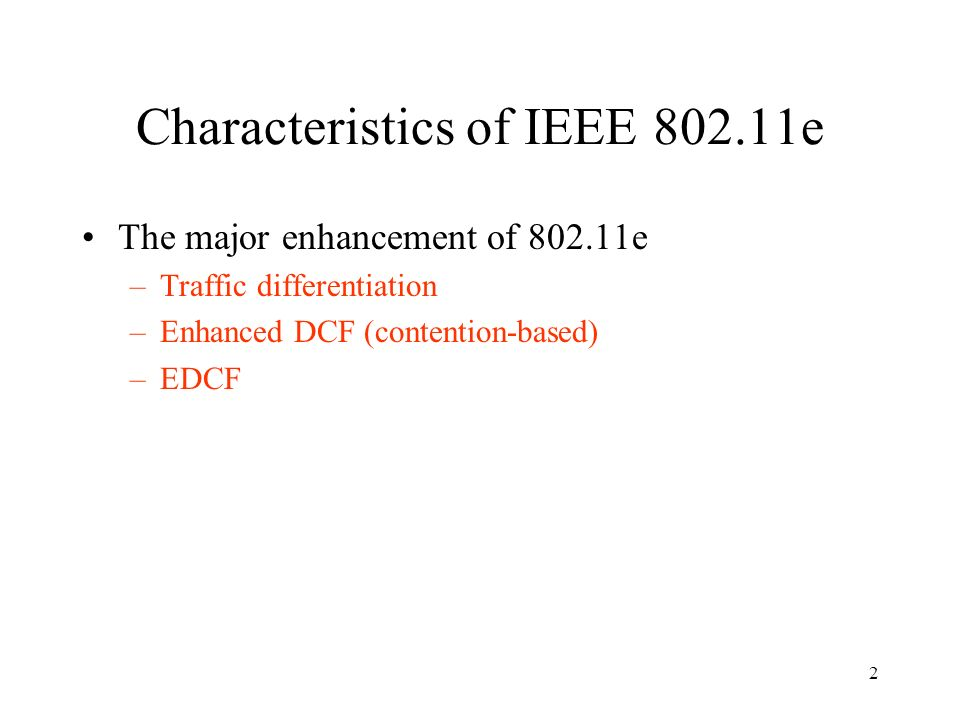Ieee mac enhancements for quality of service ppt download for Ieee 802 11 architecture