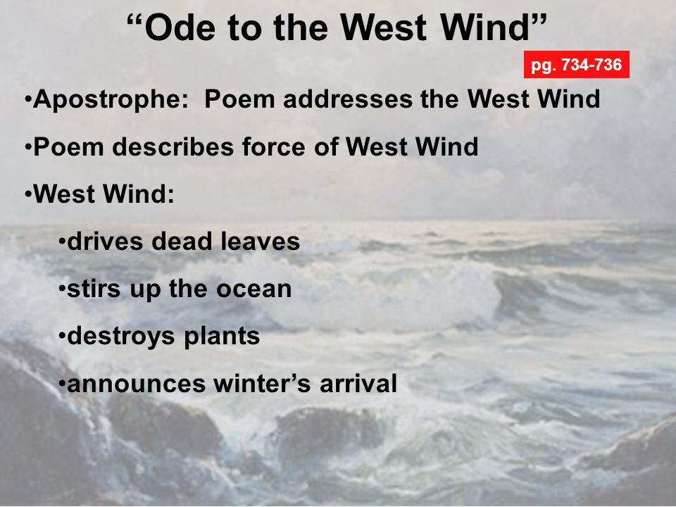 the spiritual powers described in percey bysshee shelleys the ode to the west wind Ode to the west wind - o wild west wind, thou breath of autumn's being.