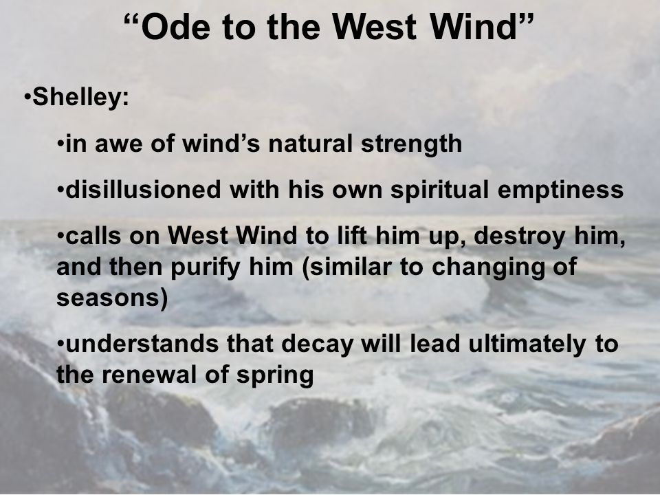 ode to the west wind first 3 ode to the west wind of the dying year, to which this closing night dell'anno che muore, al quale questa notte che sta finendo.