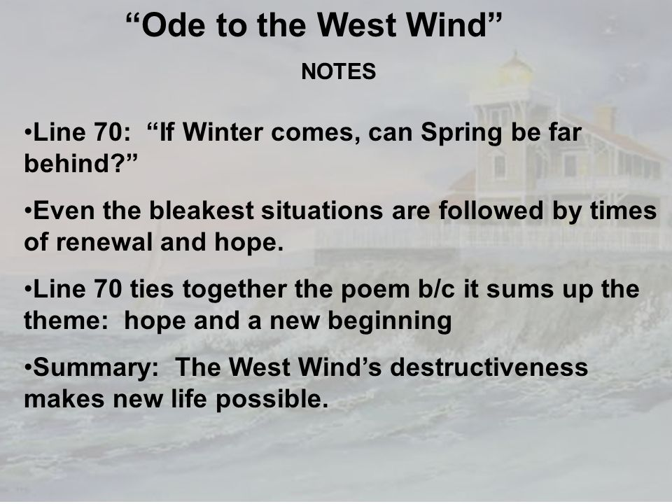 ode to the west wind analysis The terminology in shelley's defence of poetry also echoes the language used in  ode to the west wind in its analysis of the essential characteristics of poetry.
