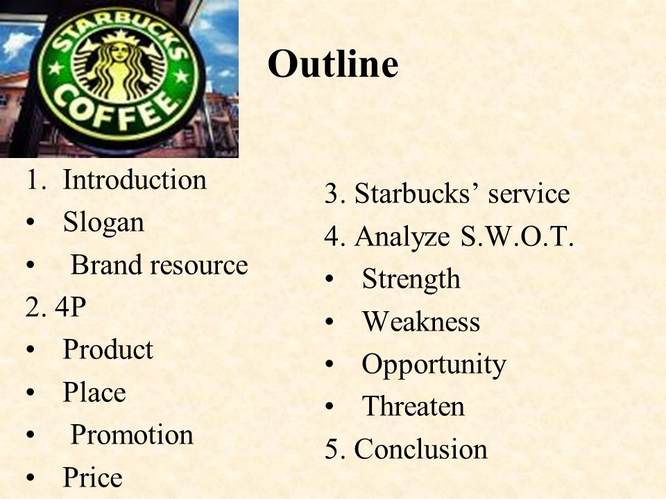 an introduction to the swot analysis of starbucks The swot analysis of starbucks reveals the many strengths housed by the world's biggest coffeehouse chain most people attribute starbucks' success to its delectable coffee beverages and.
