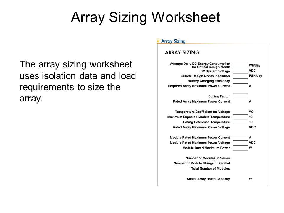 System Sizing Sizing methodologies Sizing calculations. - ppt ...