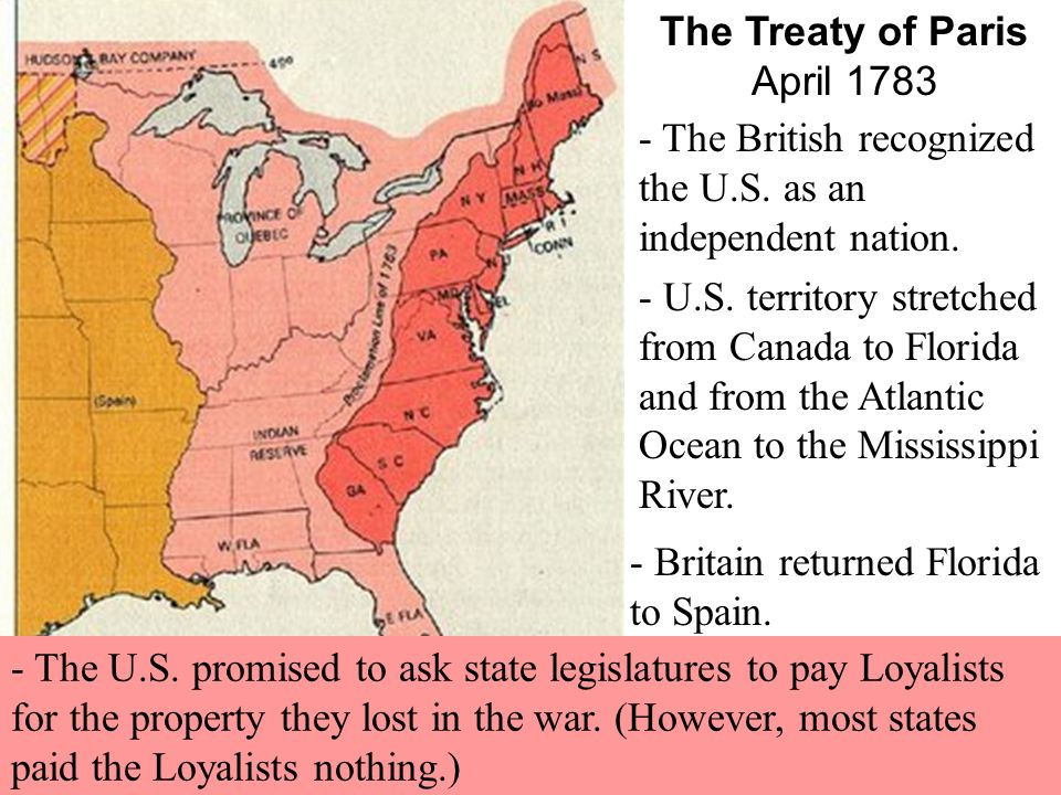 the treaty of paris 1783 The treaty of paris of 1783 ended the us revolutionary war and granted the thirteen colonies political independence a preliminary treaty between great britain and the united states was signed in 1782, but the final agreement was not signed until september 3, 1783 the surrender of the british.