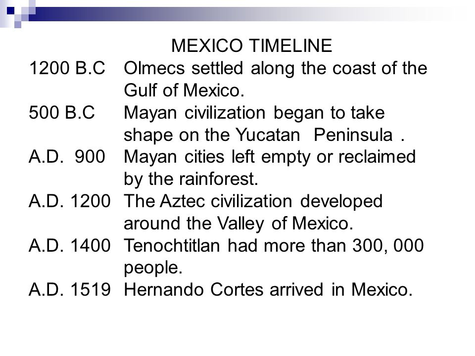 Mexico Lesson 3 History. - ppt download