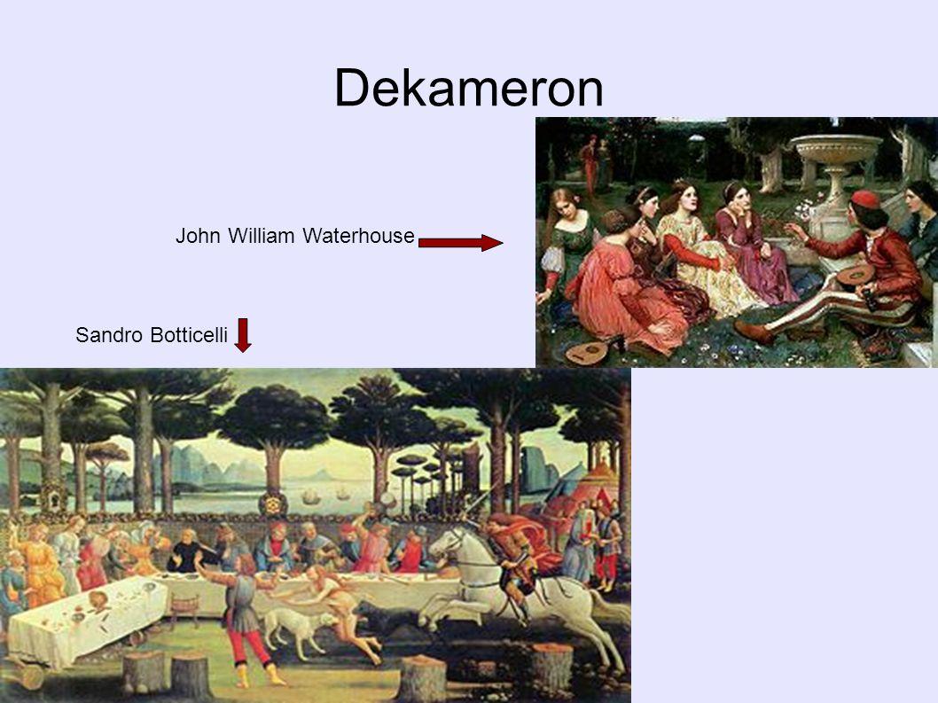 Dekameron John William Waterhouse Sandro Botticelli