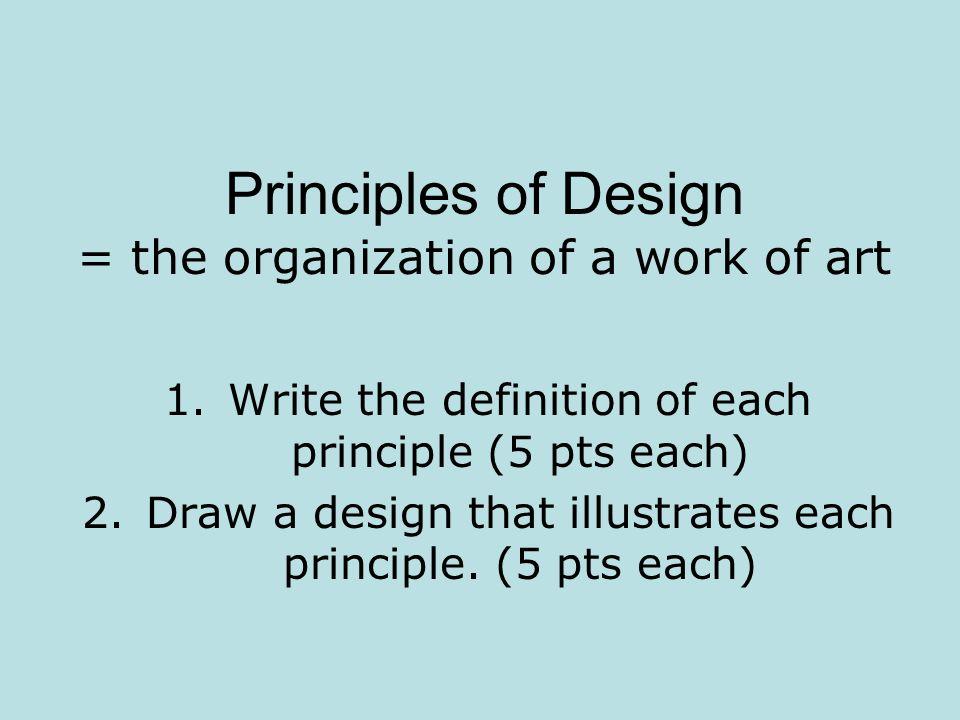 5 Principles Of Design Art : Principles of design the organization a work art
