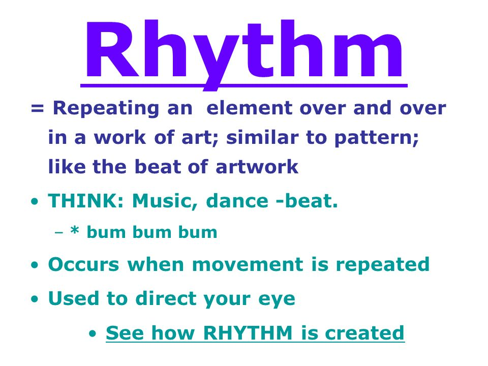 Examples Of Rhythm In Art