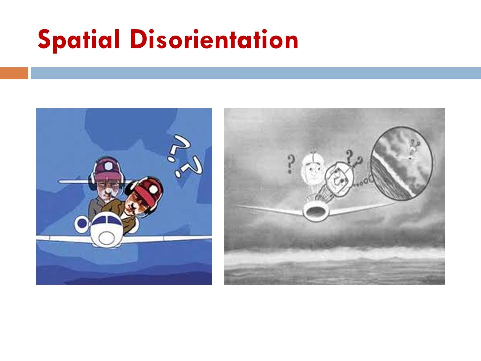 spatial disorientation By richard n aarons/business & commercial aviation  we tend to think of spatial disorientation as something that happens to low-time recreational pilots who stray into imc and spiral in.