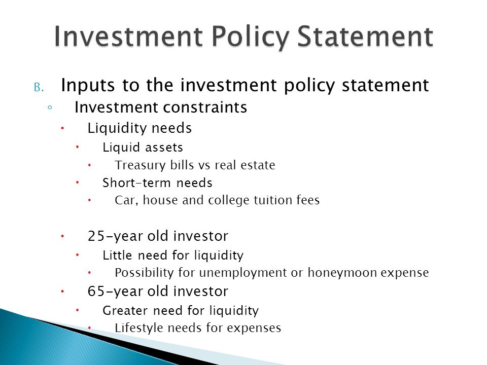 Investment Policy Statement  Ppt Video Online Download