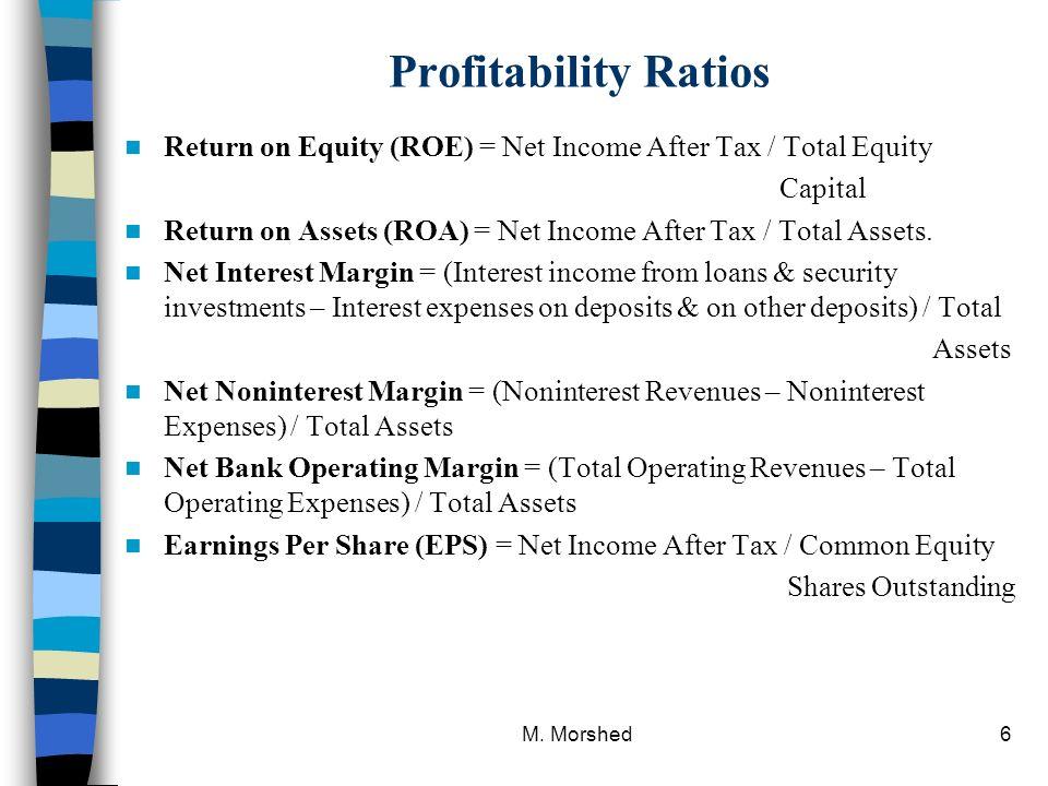 formula for net bank operating margin Profitability ratios: net profit margin, return on assets (roa), return on equity (roe)  return on equity (roe) formula roe = operating performance .