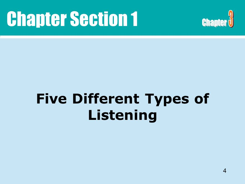 five types of listening