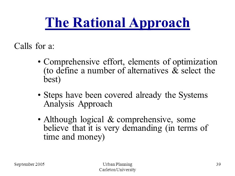 rational comprehensive A rational decision making model adds an first though why not take a look at our comprehensive decision rational decision making processes consist of a.