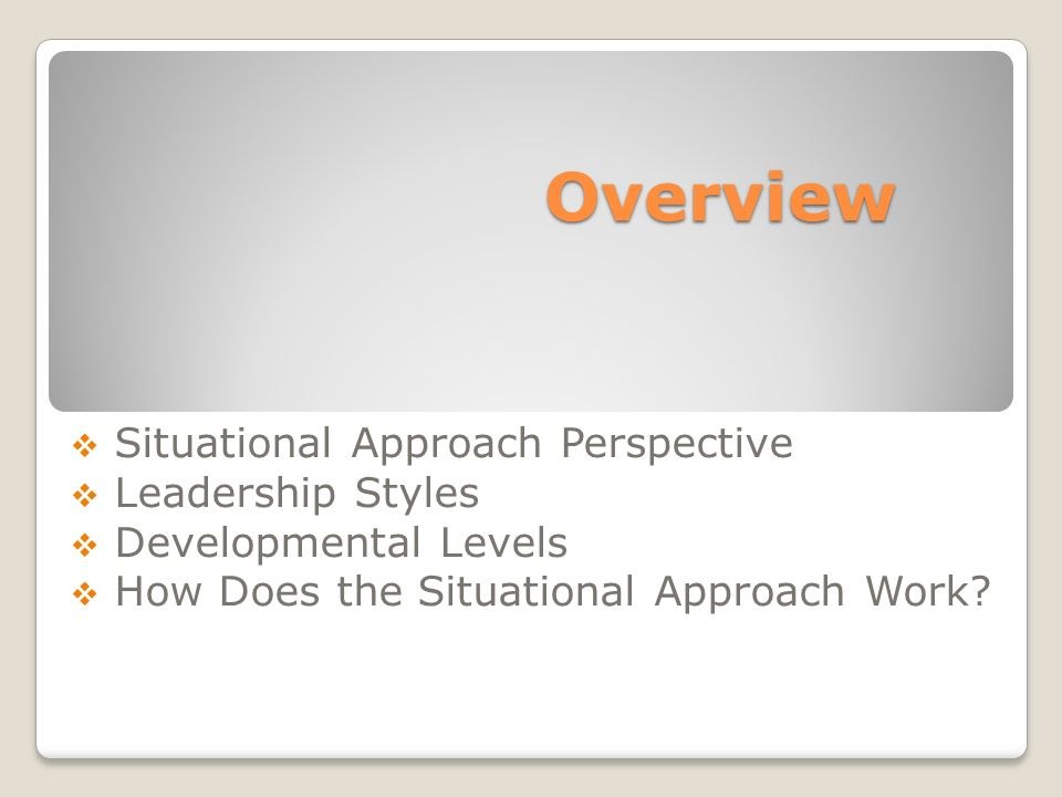 situational approach to leadership pdf