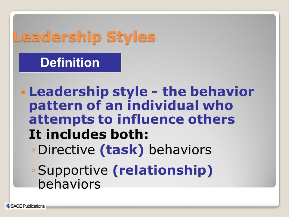 directive leadership style definition Effects of leadership style on organizational performance:  the concept and definition of leadership and style may  leadership style in an organization is.