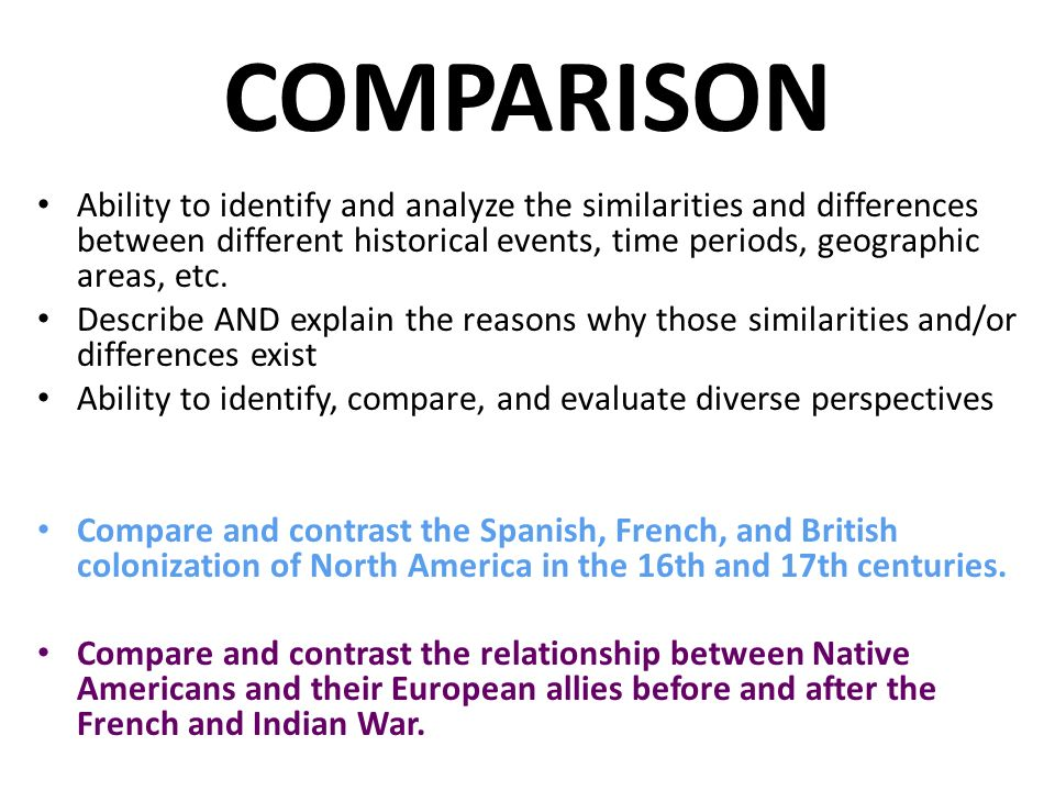 Comparision between two historical approaches of