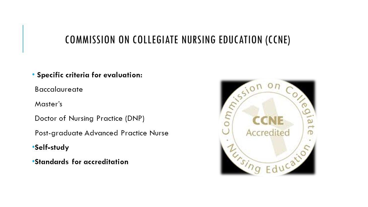 Program evaluation gnrs 5311 module 4 ppt video online download commission on collegiate nursing education ccne 1betcityfo Image collections