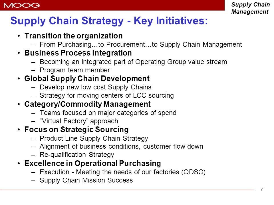 Strategic Supply Chain Management (LSCM) 550