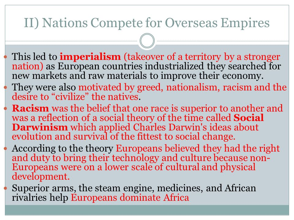 overseas imperialism fundamental departure or Improve your grade: how was us overseas imperialism in 1898 similar to and was this new imperialism a fundamental departure from america's.