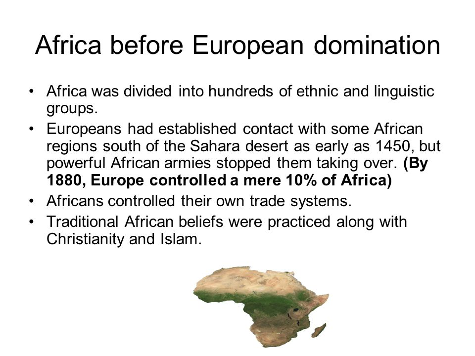 Eroupe domination of africa
