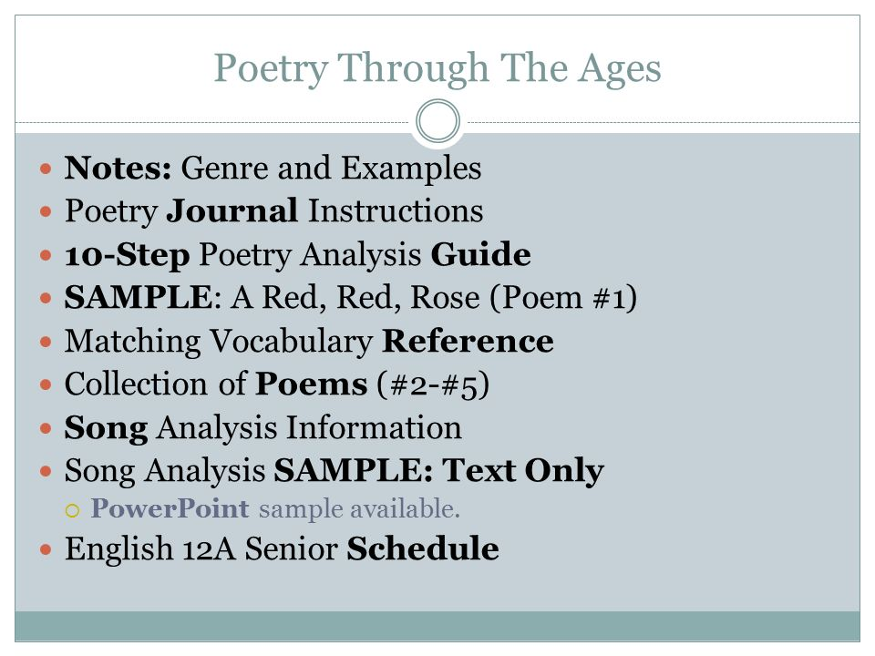 poetic genre dead poets society ppt video online  poetry through the ages