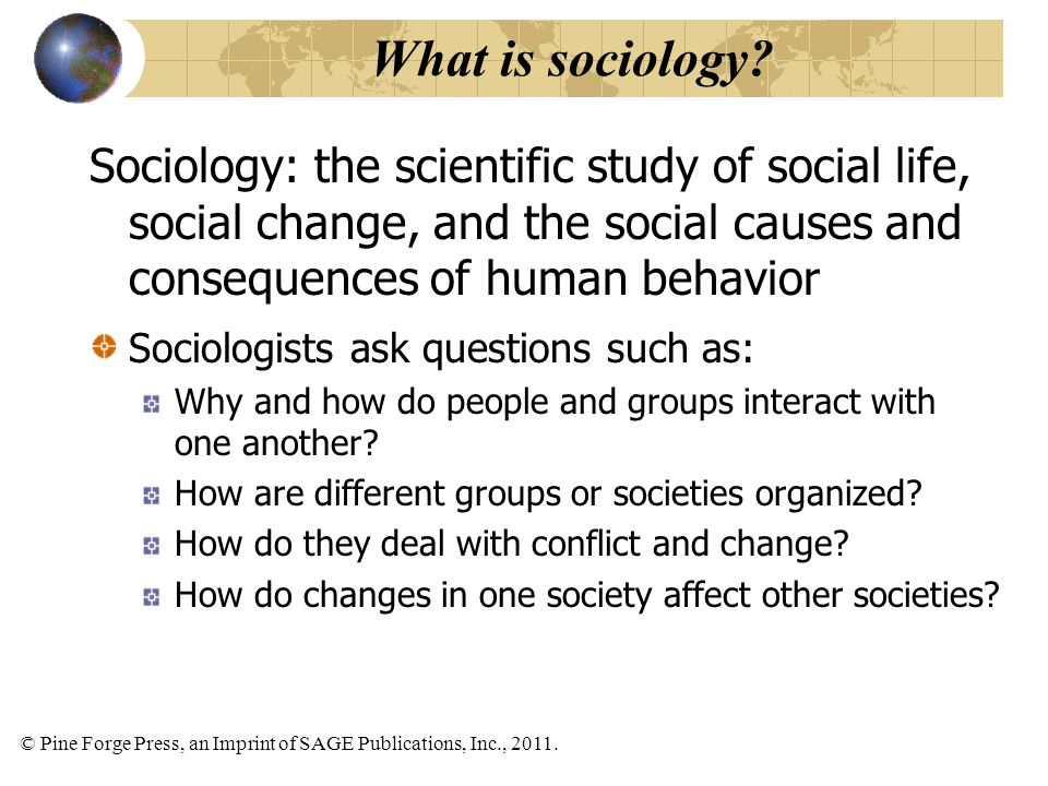 the significance of studying sociology that influence human behavior What is cognition  processes and how they influence our behavior and  with appropriate human subjects' procedures as they exist within the.