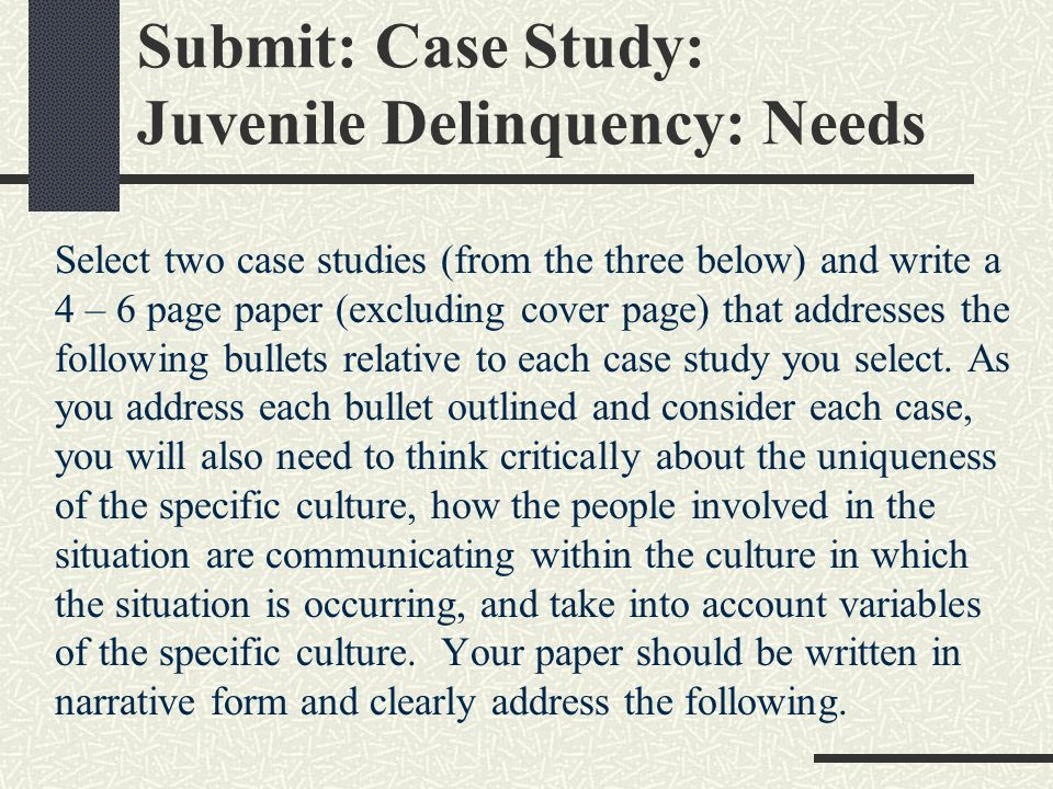 a study on juvenile delinquency in america Us department of justice  office of justice programs  office of juvenile justice and delinquency prevention  helping america's youth juvenile drug courts.