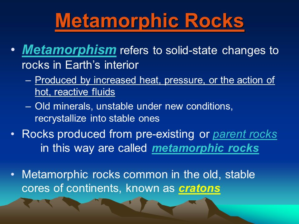 and Hydrothermal Rocks Physical Geology Chapter 7 - ppt video ...