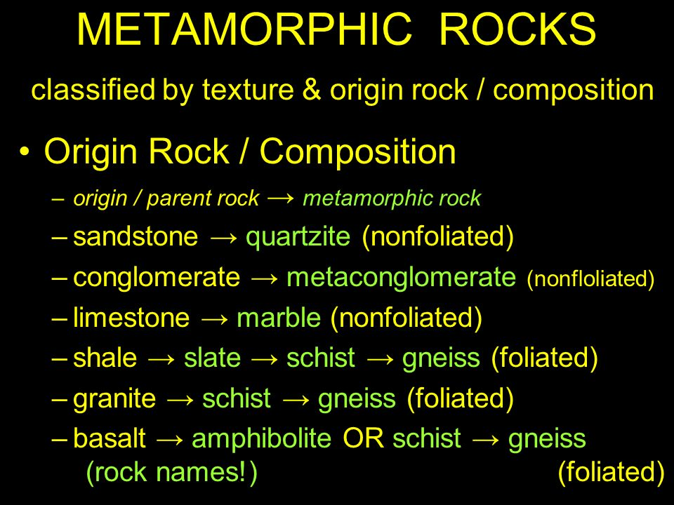 Metamorphic Rocks Types Of Metamorphism Regional
