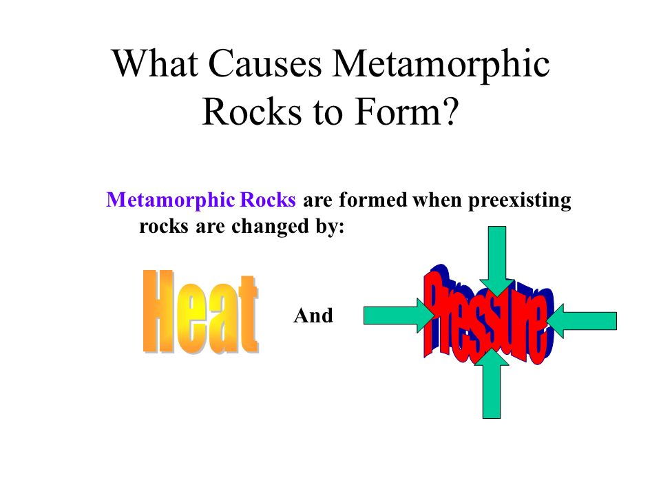 What Causes Metamorphic Rocks to Form
