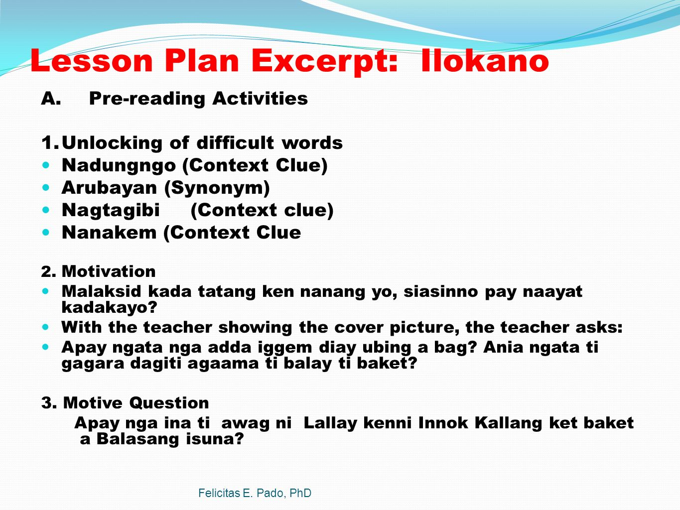 Mother tongue curriculum guide tagalog translation