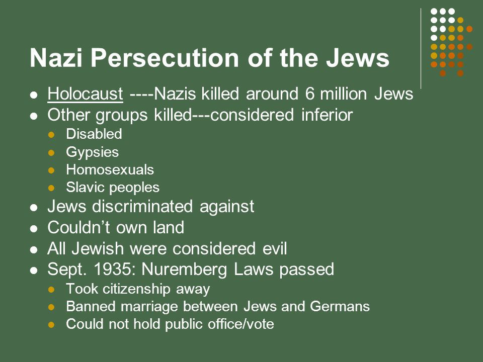 Nazi Persecution of the Jews