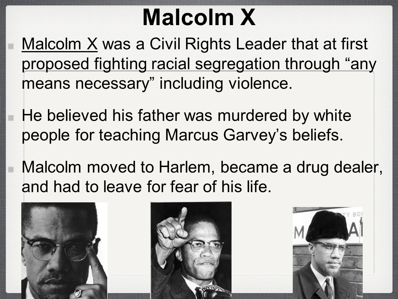 a biography of malcolm x a fighter for equal rights Equal with certain unalienable rights civil rights activist of the time, malcolm x muhammad ali contemporary black biography.