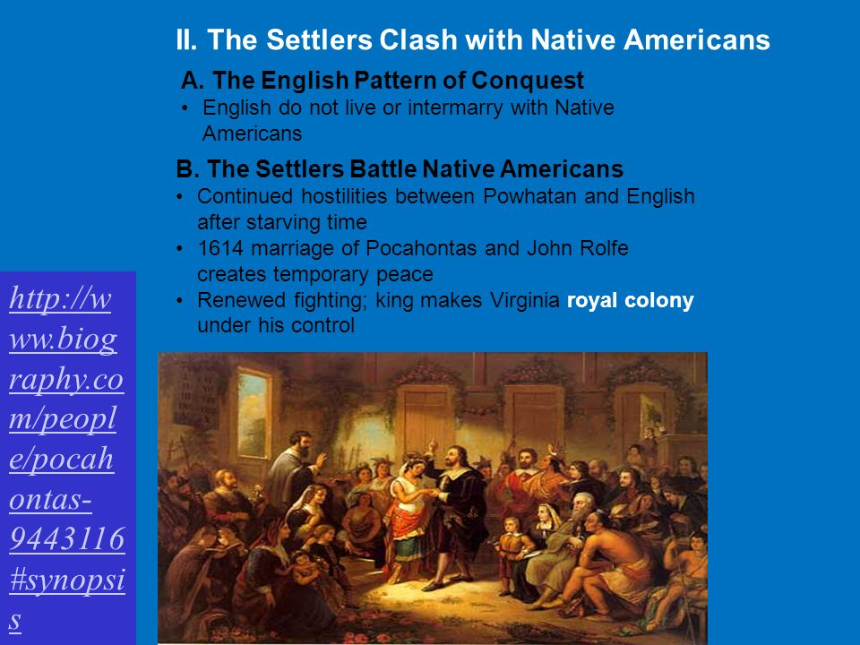 native americans and english settlers Smithsonian sign up for our  from a native american to an english colonist,  and details early contact between native americans and the settlers.