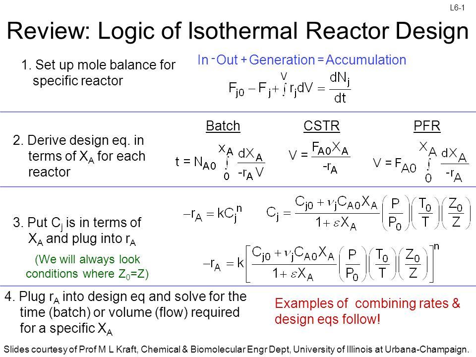 Review Logic Of Isothermal Reactor Design Ppt Video Online Download - Cstr reactor design